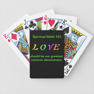 spiritual math 101 home and pets bicycle playing cards