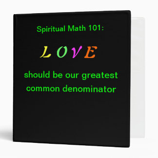 spiritual math 101 office products binder