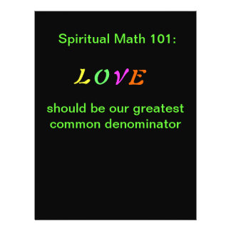 spiritual math 101 office products flyer