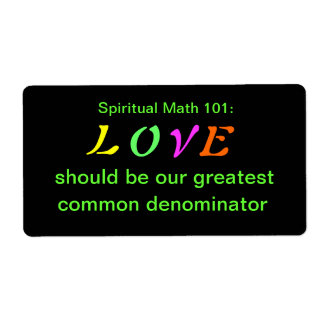 spiritual math 101 office products shipping label