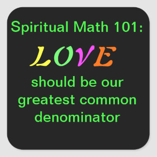 spiritual math 101 office products square sticker