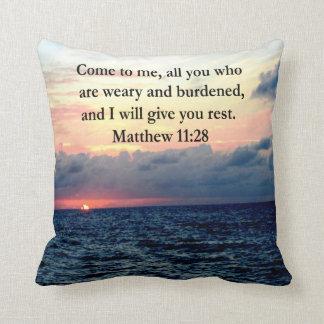 SPIRITUAL MATTHEW 11:28 SUNRISE SCRIPTURE PHOTO PILLOW