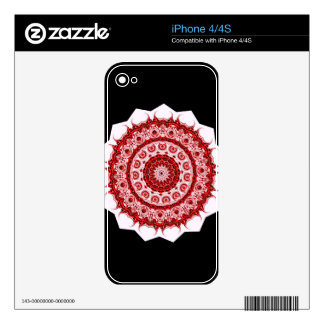 Spiritual Morrocan Red and White Tile STAR design iPhone 4S Decals