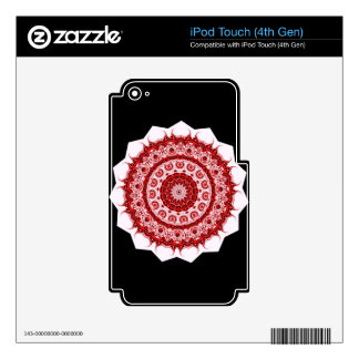 Spiritual Morrocan Red and White Tile STAR design iPod Touch 4G Decal