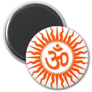 Spiritual Om 2 Inch Round Magnet