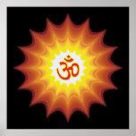 Spiritual Om Design Print