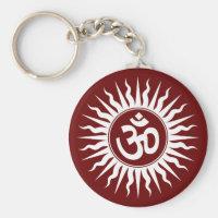Spiritual Om Key Chains