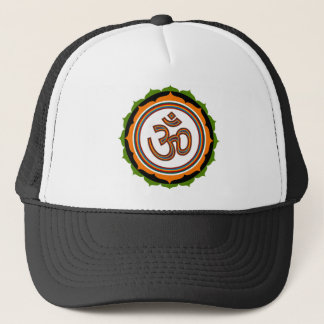 Spiritual Om Lotus Design Trucker Hat
