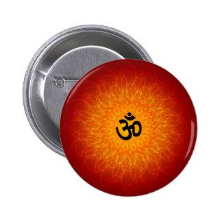 Spiritual Om On Mandala Pinback Button