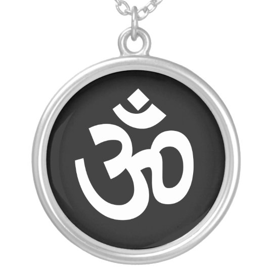 Spiritual Om Sign Silver Plated Necklace