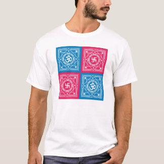 Spiritual Om & Swastika Design T-Shirt