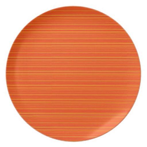 Spiritual Orange : Add GREETING Text or buy plain Dinner Plate