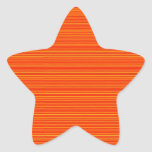 Spiritual Orange : Add GREETING Text or buy plain Star Sticker