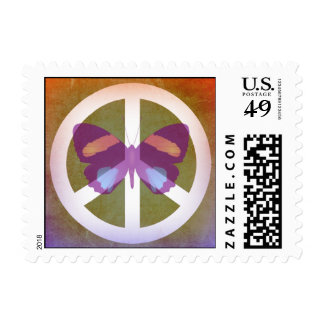 Spiritual Peace Butterfly Postage