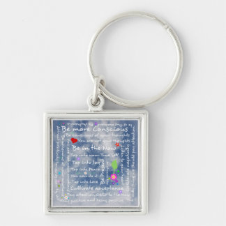 Spiritual positive affirmations keychain
