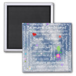 Spiritual positive affirmations 2 inch square magnet