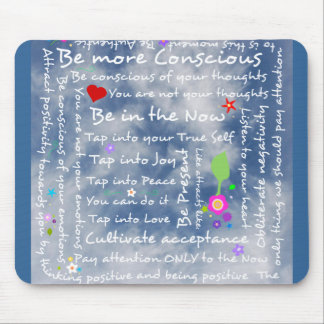 Spiritual positive affirmations mouse pad