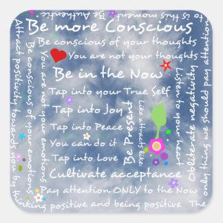 Spiritual positive affirmations square sticker