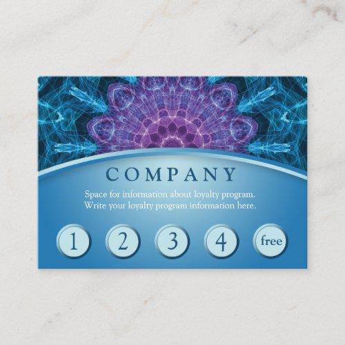 Spiritual Purple Flower Customer Loyalty Card