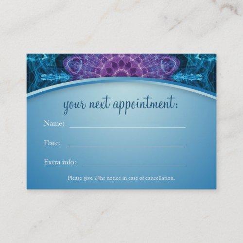 Spiritual Purple Flower Mandala Appointment Card