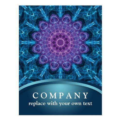 Spiritual Purple Flower Mandala Postcard