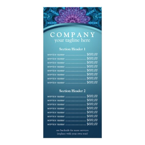 Spiritual Purple Flower mandala price list menu