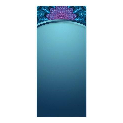 Spiritual purple flower, sea of blue Mandala Rack Card