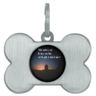 Spiritual quote pet name tag