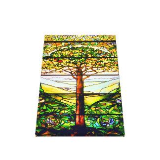 Spiritual Scenic Landscape Tiffany Window Canvas Print