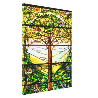 Spiritual Scenic Landscape Tiffany Window Canvas Prints