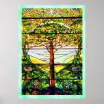 Spiritual Scenic Landscape Tiffany Window Poster