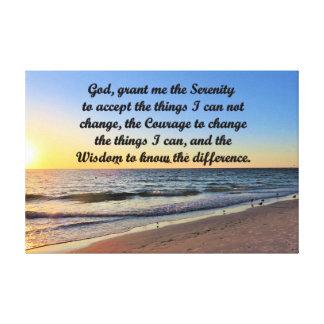 SPIRITUAL SERENITY PRAYER CANVAS WALL ART