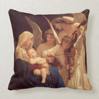 Spiritual Song of the Angels Throw Pillow