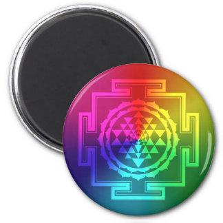 Spiritual Sri Yantra - Rainbow Magnet