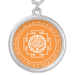 Spiritual Sri Yantra Round Pendant Necklace