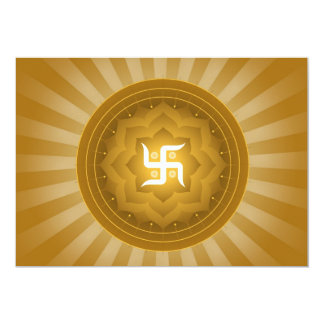Spiritual Swastika Design Invite