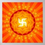 Spiritual Swastika Poster