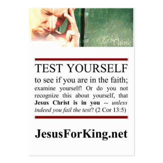 Spiritual Test Large Business Cards (Pack Of 100)