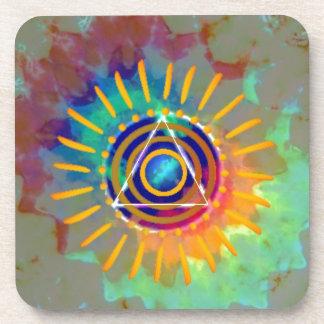 Spiritual Tyedye Beverage Coaster