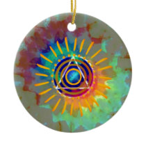 Spiritual Tyedye Ceramic Ornament