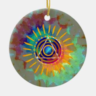 Spiritual Tyedye Ceramic Ornament