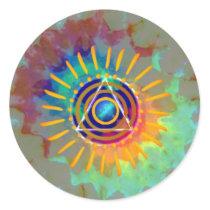 Spiritual Tyedye Classic Round Sticker