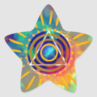 Spiritual Tyedye Star Sticker