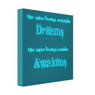 Spiritual Typography Quote on Awakening Canvas Print