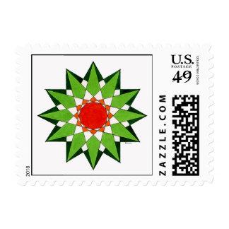 Spiritual Warrior Star Postage Stamp