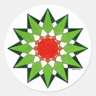 Spiritual Warrior Star Round Stickers