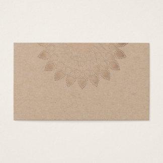 Spiritual White Lotus Flower Mandala Yoga Teacher Business Card
