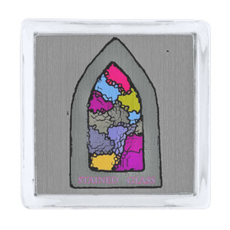 Spiritual Window II Silver Finish Lapel Pin