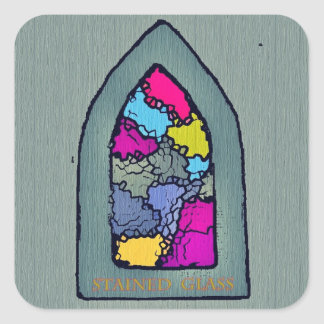 Spiritual Window Square Sticker