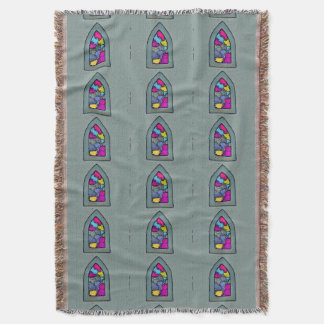 Spiritual Window Throw Blanket